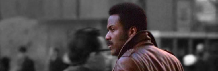 John Shaft with New York backdrop